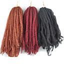 baratos Tranças de Cabelo-Cabelo para Trançar Afro / Tranças de caixa Afro Kinky Tranças Kanikalon 30 raízes / pacote Tranças de cabelo