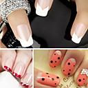 preiswerte Aufkleber für Nägel-1 pcs Modisch Französisch Tipps Leitfaden / 3D Nagel Sticker lieblich Alltag