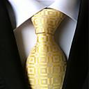 baratos Acessórios Masculinos-Homens Luxo Quadriculado Clássico Festa Casamento Gravata - Fashion Criativo