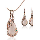 cheap Jewelry Sets-Cubic Zirconia Jewelry Set - Rose Gold, Cubic Zirconia Peacock Asian, Party, Work Include Stud Earrings / Pendant Necklace Rose Gold For Party / Special Occasion / Anniversary