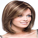 cheap Hair Pieces-Synthetic Wig Straight Style Capless Wig Brown Brown Synthetic Hair 10 inch Women's Brown Wig Medium Length hairjoy Natural Wigs