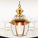preiswerte Pendelleuchten-Pendelleuchten Deckenfluter Lackierte Oberflächen Metall Glas Ministil 110-120V / 220-240V Glühbirne nicht inklusive / E26 / E27