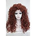 זול פיאות סינטטיות ללא כיסוי-פאות סינתטיות מתולתל שיער סינטטי אדום פאה בגדי ריקוד נשים ארוך ללא מכסה