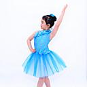 billige Danseklær til barn-Ballet Kjoler Dame Ytelse Paljetter / Lycra Paljett / Blomst Ermeløs Naturlig / Ballett / Moderne Dans / Oppvisning
