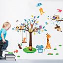 billige Syntetiske parykker-Landskap Dyr Veggklistremerker Animal Wall Stickers Dekorative Mur Klistermærker, Vinyl Hjem Dekor Veggoverføringsbilde Vegg
