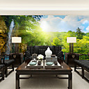 cheap Wall Murals-Floral Art Deco 3D Home Decoration Contemporary Wall Covering, Canvas Material Adhesive required Mural, Room Wallcovering