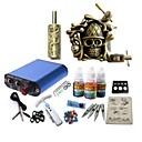 cheap Starter Tattoo Kits-BaseKey Tattoo Machine Starter Kit - 1 pcs Tattoo Machines with 1 x 15 ml tattoo inks, Professional Alloy Mini power supply Case Not Included 20 W 1 alloy machine liner & shader