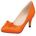 זול נעלי עקב לנשים-נעלי נשים - בלרינה\עקבים - דמוי עור - עקבים / שפיץ - שחור / כחול / צהוב / ירוק / ורוד / סגול / אדום / לבן / אפור / כתום / אדום כהה / חרדל