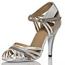 abordables Velos de Boda-Mujer Zapatos de Baile Latino / Zapatos de Salsa Cuero Sintético Sandalia / Tacones Alto Hebilla / Poroso Tacón Personalizado Personalizables Zapatos de baile Negro / Plata / Interior / Rendimiento