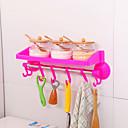 billige Tannbørste og tilbehør-Badeværelsegadget Multifunksjonell Kreativ Lagring Vanlig Plast 1 stk - Baderom bad organisasjon Vægmonteret