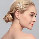 baratos Acessórios de Cabelo-Imitação de Pérola Pentes de cabelo com 1 Casamento / Ocasião Especial / Casual Capacete