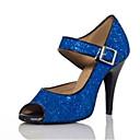 abordables Zapatos de Baile Latino-Mujer Zapatos de Baile Latino / Zapatos de Salsa Brillantina / Lentejuelas Sandalia / Tacones Alto Lentejuela / Purpurina / Hebilla Tacón