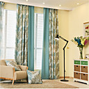 cheap Curtains Drapes-Blackout Curtains Drapes Bedroom Cartoon Novelty Polyester Print & Jacquard