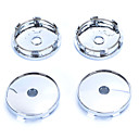 cheap Car Valve Caps-4 Pcs Silver Tone Plastic 60mm Dia Car Hood Emblem Wheel Center Hub Caps Covers