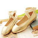 זול נעלים שטוחות לנשים-בגדי ריקוד נשים נעליים דמוי עור אביב / קיץ שטוח כסף / ורוד / מוזהב