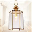 cheap Ceiling Lights-Lantern Pendant Light Uplight Painted Finishes Metal Glass Mini Style 110-120V / 220-240V Bulb Not Included / E26 / E27