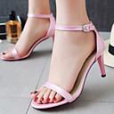 baratos Sapatos de Salto-Mulheres Sapatos Courino Verão Chanel Salto Agulha Preto / Azul / Rosa claro / Festas & Noite / Festas & Noite