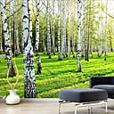رخيصةأون معلقات الجدران-حياة موقفة / مناظر الطبيعيةمربع / النباتية قماش طباعة جزء واحد على استعداد للتعليق,عمودي