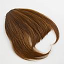 billige Hårstykker-Sort Mellembrun Krøller Fringe 0.25kg Menneskehår Hårstykke Hårpåsætning