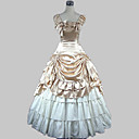 cheap Historical & Vintage Costumes-Sweet Lolita Dress Classic Lolita Dress Victorian Medieval Satin Women's Girls' Dress Ball Gown Cosplay Champagne / Golden Sleeveless Floor Length Halloween Costumes