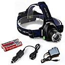 preiswerte Taschenlampen-HP79 Stirnlampen Fahrradlicht LED Cree T6 1 Sender 2000 lm 3 Beleuchtungsmodus inklusive Batterien und Ladegeräten Zoomable-, einstellbarer Fokus, Stoßfest Camping / Wandern / Erkundungen, Für den