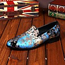 cheap Men's Slip-ons & Loafers-Men's Shoes Leather Spring / Fall Comfort / Novelty Loafers & Slip-Ons Blue / Pink / Wedding / Party & Evening / Leather Shoes