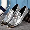 cheap Men's Oxfords-Men's Leather Shoes Leather Spring / Fall British Oxfords Silver / Golden / Wedding / Party & Evening / Novelty Shoes / Dress Shoes
