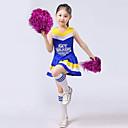 baratos Roupas Infantis de Dança-Fantasias para Cheerleader Roupa Espetáculo Poliéster Fru-Fru Sem Manga Alto Blusa / Saia