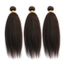 olcso Természetes színű póthajak-3 csomag Brazil haj Egyenes / Göndör egyenes Emberi haj Az emberi haj sző Emberi haj sző Human Hair Extensions