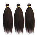 preiswerte Dekorative Kissen-3 Bündel Brasilianisches Haar Glatt / Kinky Glatt Echthaar Menschenhaar spinnt Menschliches Haar Webarten Haarverlängerungen / Gerade