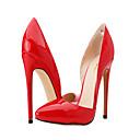 baratos Sapatos de Salto-Mulheres Sapatos Courino Primavera / Verão Salto Agulha Preto / Vermelho / Nú / Festas & Noite / Social / Festas & Noite