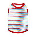 billige Hundetøj-Kat Hund T-shirt Hundetøj Stribe Sort Orange Rød Grøn Blå Bomuld Kostume For kæledyr Herre Dame Mode