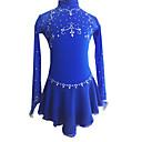 baratos Acessórios para PS4-Vestidos para Patinação Artística Mulheres / Para Meninas Patinação no Gelo Vestidos Azul Real Pedrarias Roupas para Lazer / Espetáculo