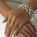 ieftine Cercei-Pentru femei Ivoriu Clasic Imitație de Perle Temă Clasică Lanț Componentă Clasic & Fără Vârstă Brățări rotunde Brățări Bijuterii Argintiu Pentru Nuntă Petrecere Ocazie specială Zi de Naștere Logodn