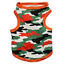 preiswerte Zubehör für GoPro-Katze Hund T-shirt Hundekleidung camuflaje Schwarz Orange Baumwolle Kostüm Für Haustiere Herrn Damen Modisch