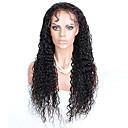 olcso Emberi hajból készült parókák-Emberi haj Csipke eleje Paróka Göndör Paróka Rövid Közepes Hosszú Emberi hajból készült parókák