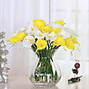 tanie Sztuczne kwiaty-Sztuczne Kwiaty 10 Gałąź Kwiaty ślubne Kalia liliowa Bukiety na stół