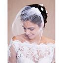 olcso Köszönetajándékok kulcstartóra-Egykapcsos Vágott Menyasszonyi fátyol Pironkodó (blusher) fátylak Fátylak rövid hajhoz Fejdíszek fátyollal A Tüll