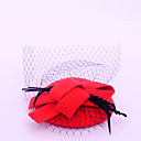 cheap Party Headpieces-Flannelette / Feather / Net Fascinators with 1 Wedding / Special Occasion / Casual Headpiece