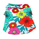 billige Hundetøj-Hund T-shirt Hundetøj Blomster / botanik Regnbue Bomuld Kostume For kæledyr Herre Dame Ferie