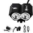 hesapli Dış Ortam Lambaları-Kafa Lambaları / Bisiklet Işıkları LED 3000 lm 4.0 Işıtma Modu Pil ve Şarj Aleti ile Su Geçirmez / Şarj Edilebilir / Acil Bisiklete biniciliği
