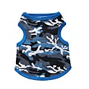 cheap Dog Clothes-Cat Dog Shirt / T-Shirt Dog Clothes Camouflage Black Blue Cotton Costume For Pets Men's Women's Fashion