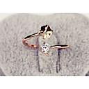 olcso Divatos gyűrű-Női Gyűrű - Ötvözet Divat Állítható Arany / Rózsaszín Kompatibilitás Esküvő Parti Napi / Strassz