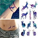 cheap Tattoo Stickers-Waterproof / Tattoo Sticker Temporary Tattoos Animal Series face / hand / arm 1 pcs