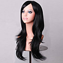 cheap Synthetic Capless Wigs-Synthetic Wig Curly Asymmetrical Haircut Synthetic Hair Natural Hairline Black Wig Women's Medium Length / Long Capless