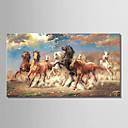 tanie Obrazy: motyw zwierzęcy-Hang-Malowane obraz olejny Ręcznie malowane - Zwierzęta Comtemporary Brezentowy