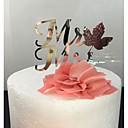 cheap Cake Toppers-Cake Topper Classic Theme Classic Couple Acrylic Wedding with 1 pcs OPP