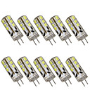 abordables Luces LED de 2 Pin-10pcs 2 W 200 lm G4 Luces LED de Doble Pin T 24 Cuentas LED SMD 2835 Decorativa Blanco Cálido / Blanco Fresco 12 V / 10 piezas / Cañas