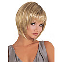 cheap Wallets-Synthetic Wig Straight Blonde Bob Haircut / With Bangs Synthetic Hair Blonde Wig Women's Blonde