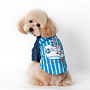 baratos Roupas para Cães-Cachorro Camiseta Roupas para Cães Riscas Azul Rosa claro Algodão Terylene Ocasiões Especiais Para animais de estimação Homens Mulheres